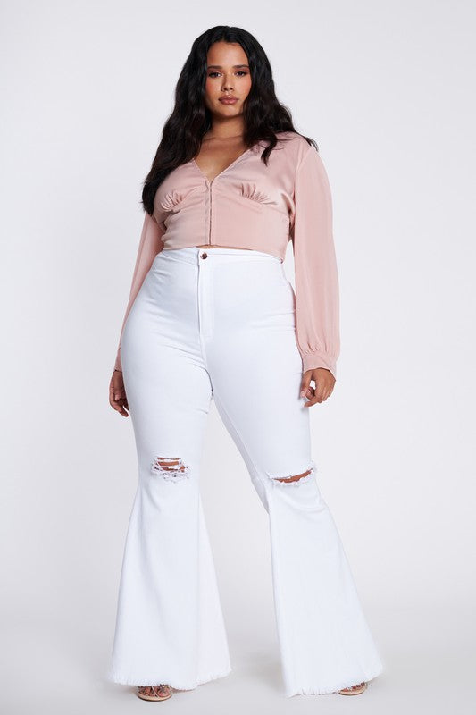 Amy Distressed Flare Pants