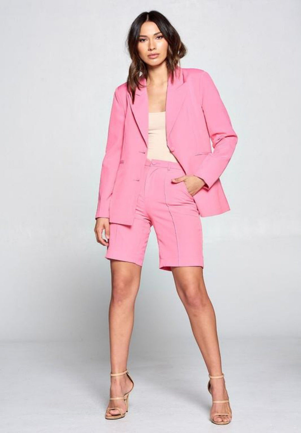 Bossy Blazer and Bermuda Shorts Set