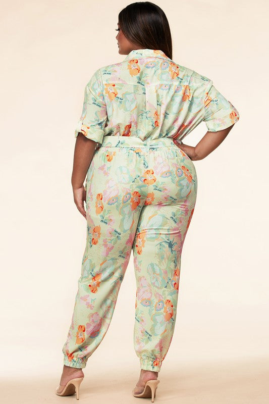 Botanical Jumpsuit Curvy