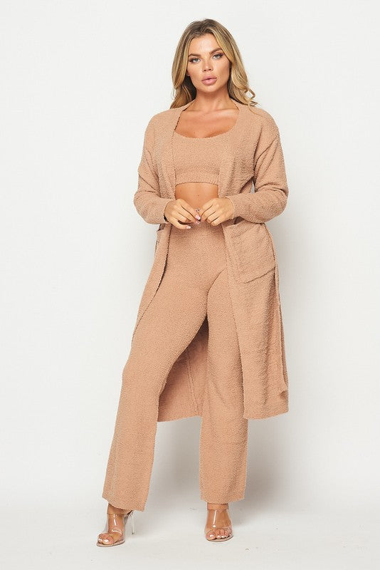 Kimmie Plush Cardigan Robe