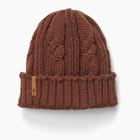 Krochet Kids Int. - Odin Unisex Cable Knit Beanie Chestnut