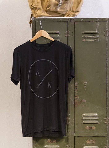 A+W Circle Logo Tee Black 100% Cotton