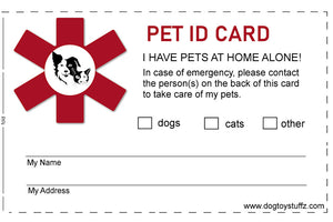 Free Emergency Pet Care ID Card