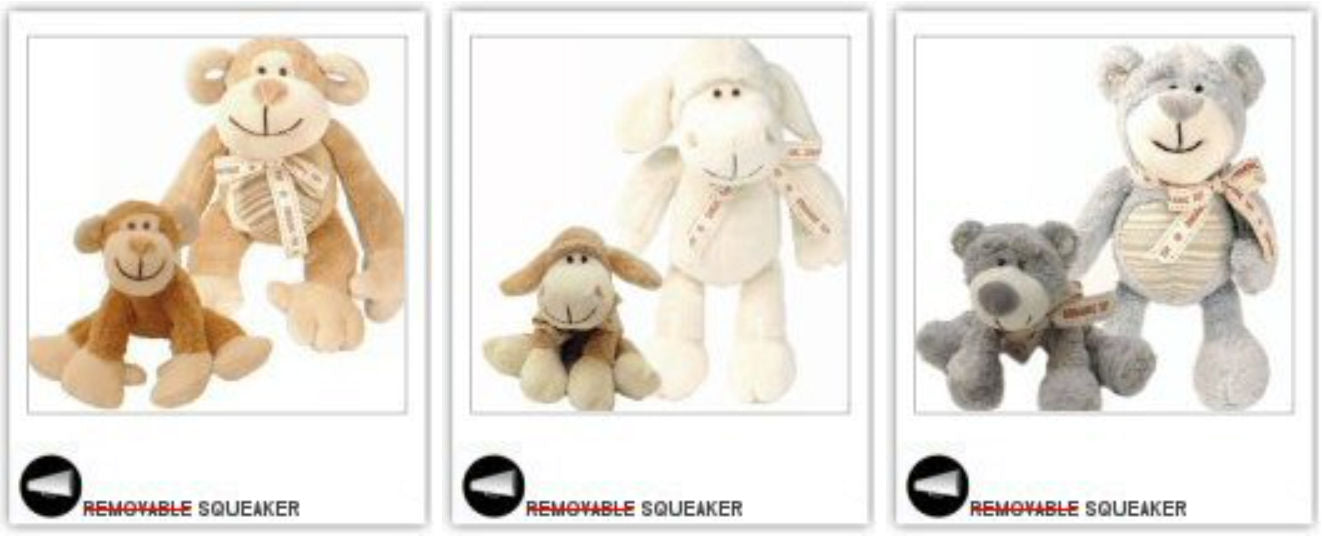 Cutest Organic Dog Toys – and safe with removable squeaker!