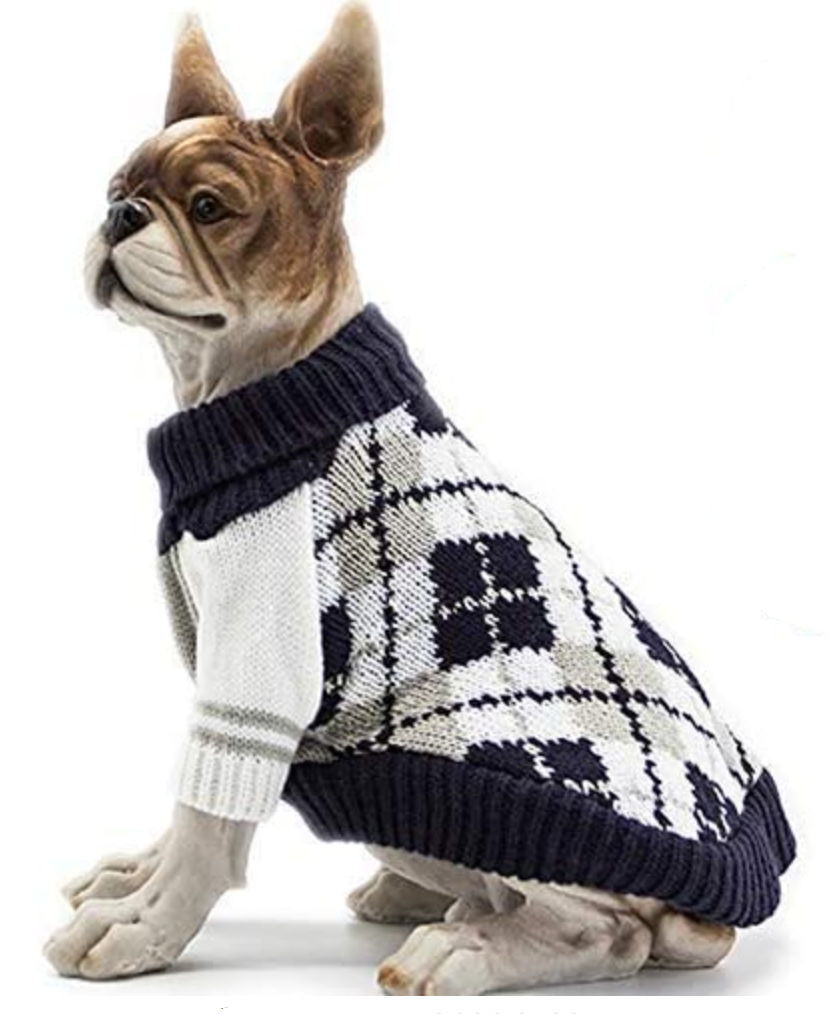 medium dog plaid sweater
