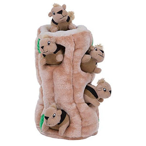 Outward Hound Hide-A-Squirrel Interactive Squeaky Plush Dog Toy