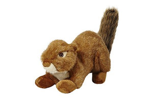 Fluff & Tuff SQUEAKERLESS Red Squirrel Plush Dog Toy