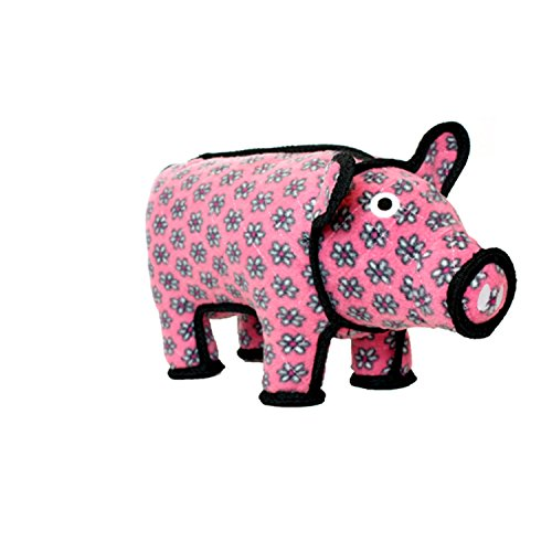 TUFFY World's Tuffest Soft Dog Toy | Barnyard Animal Pig - Large