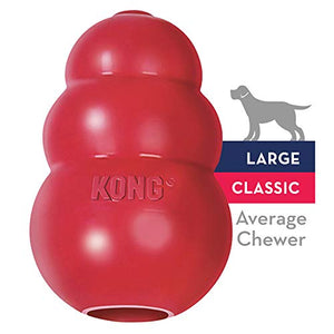 KONG Classic Naural Rubber Dog Toy - Chew, Chase & Fetch - For Large Dogs