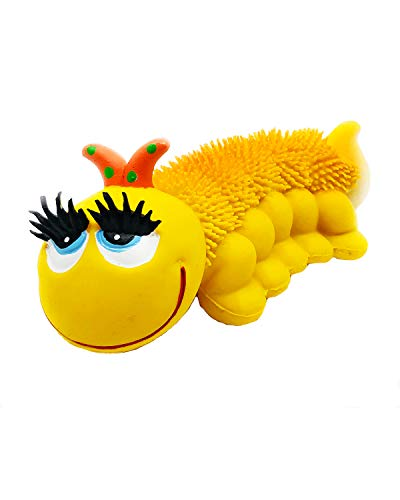 Sensory Caterpillar Soft Squeaky Natural Rubber Non-Toxic Dog Toy
