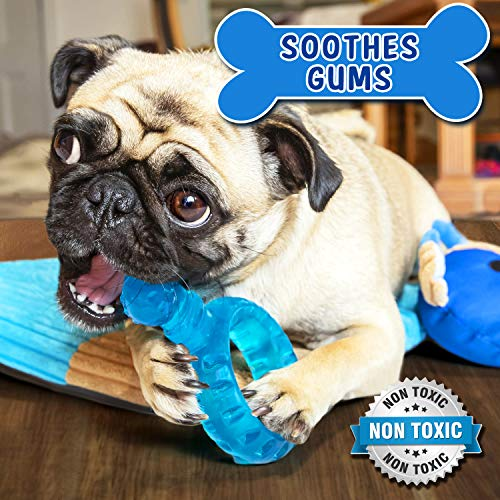 HOUNDGAMES Puppy All-in-One Toy Mat with Chew Toys  | Durable & Machine Washable