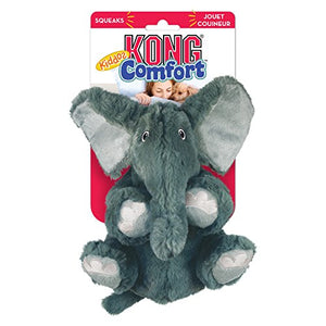 KONG Comfort Kiddos Elephant Removable Squeaker Plush Toy | Large Dogs