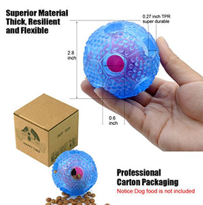 CHLEBEM Non-Toxic Interactive Dog Ball & Treat Toy | Small & Medium Dogs