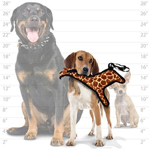 TUFFY World's Tuffest Soft Dog Toy | Zoo Giraffe - Medium