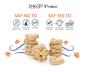 IMK9 All Natural Peanut Butter & Blueberry Vegetarian & Organic Crunchy Dog Treats