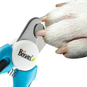 Dog Nail Clippers and Trimmer By Boshel With Safety Guard For Safe At Home Grooming