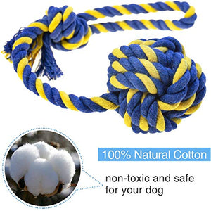 HETOO Dog & Puppy Rope Toys Washable Cotton | 6 Pack
