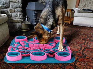 Snuffle Mat for Dog Treats or Food, Encourages Natural Foraging Skills & Interactive