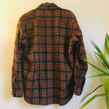 Hey Tiger Vintage 90s plaid wool blend flannel // unisex