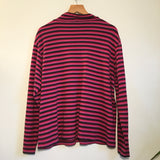 Vintage 90s Striped mock neck pullover // size petite X-large // Hey Tiger Louisville Kentucky