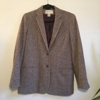vintage 70s 80s Evan Picone Tweed blazer suit jacket coat // women's size 8 Small medium // Hey Tiger