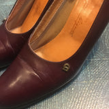 Vintage Etienne Aigner Oxblood Leather pumps // US size 7M