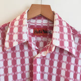 Hey tiger Vintage 60s 70s Kings Road Shop Button Up by Sears The Men's Store // Unisex Size  Medium