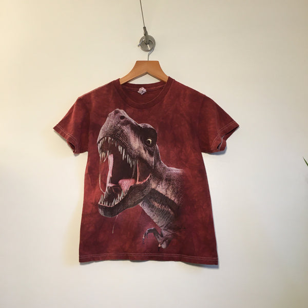 Vintage T-Rex Tie Dye tee from The Mountain // Youth Medium Available at Hey Tiger in Louisville Kentucky