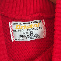 Hey Tiger Vintage 1960s Pirates BRISTOL Official Award Sweater // unisex Crew neck Size 12 // Made in USA