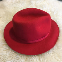 Vintage LL Bean 1980s Wool fedora in Red // size Medium // made in England // hey Tiger Louisville, Kentucky