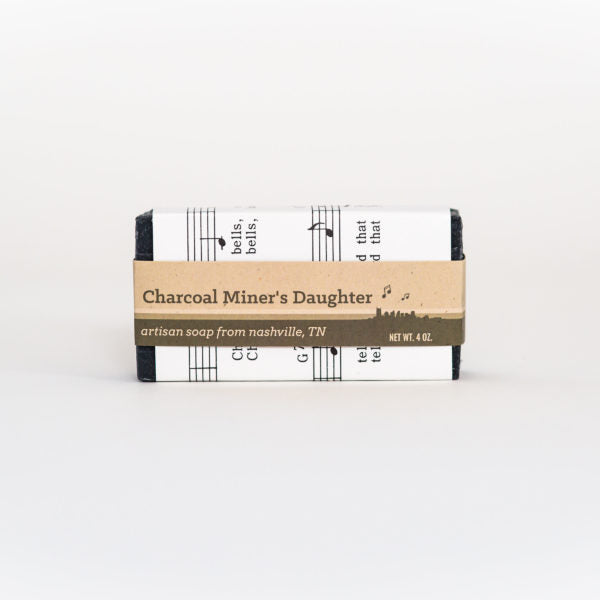 Charcoal Miner's Daughter All-Natural Bar Soap // Handmade in Nashville TN by Music City Suds // Hey Tiger Louisville Kentucky
