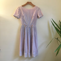 Hey Tiger Louisville Kentucky // Vintage retro Eyelet dress // size xs small // 50s 60s 80s style // Spring Summer Pastel