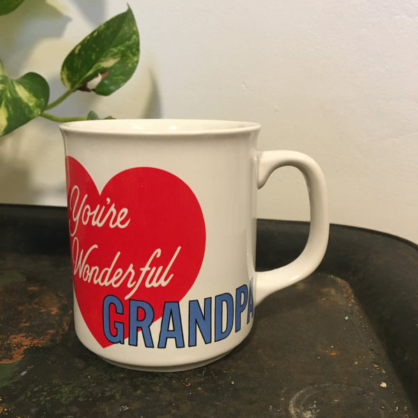 You're Wonderful Grandpa Vintage Coffee mug // retro kitsch kitchen home // available at Hey Tiger in Louisville Kentucky