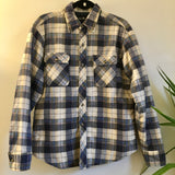 Hey Tiger Mens vintage Bud Berma Quilted Lined plaid flannel Oxford button up // unisex size MEDIUM M