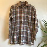 Hey Tiger Vintage Saturdays Generation 70s 80s plaid flannel // Unisex Size Small