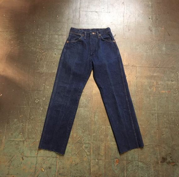 Hey Tiger Vintage 70s 80s Wrangler straight leg western jeans // size 5 xs small
