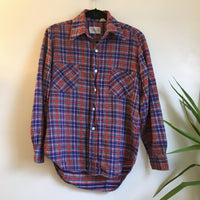 Hey Tiger Vintage 1970s 80s Saxon plaid flannel // unisex size small