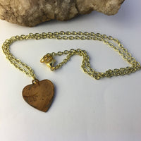 Kentucky State Love Necklace in brass by Hello Stranger