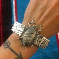 Scarab Cuff Bracelet by Hello Stranger // adjustable size