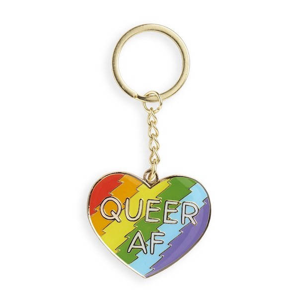 queer afrainbow heart Enamel Keychain by the found // hey tiger louisville kentucky