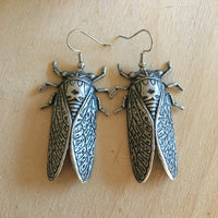 Handmade giant cicada earrings handmade by Hello Stranger // made in USA
