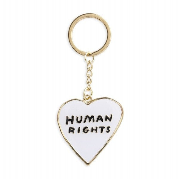 Human Rights Heart Enamel Keychain