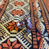 Handmade scarab beetle adjustable ring by Hello Stranger // made in USA