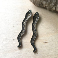 Handmade snake dangle earrings by Hello Stranger // made in USA