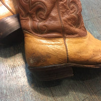 Vintage Nocona Cowboy boots // made in USA ostrich leather western stitching // size 10 D