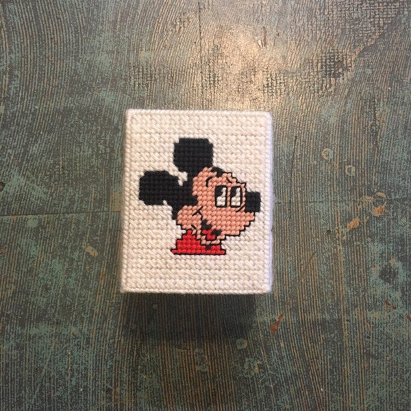 Vintage 1970s Mickey Mouse tissue box cover // retro kids bedroom bathroom decor