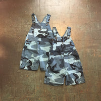 NOS vintage camo blue camouflage bib overalls // youth small store