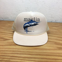 Vintage MARLIN trucker cap hat // one size fits all