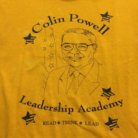 Vintage Colin Powell Leadership Academy tee // unisex retro crew neck t-shirt // size small // hey tiger louisville kentucky