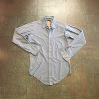 Men's vintage 70s long sleeve button up Oxford shirt // unisex size small